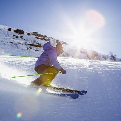 skiing sun exposure